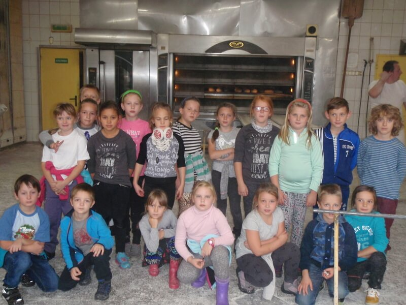 Klasa 3f na wycieczce do piekarni