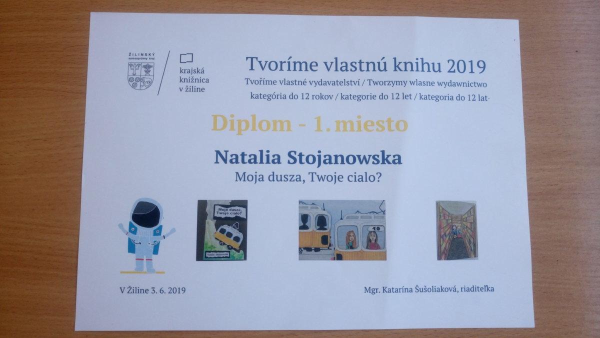 I miejsce dla Natalii Stojanowskiej w międzynarodowym konkursie!