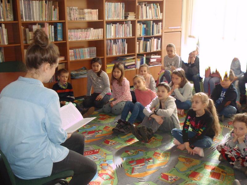 Klasa 2c w Książnicy Beskidzkiej