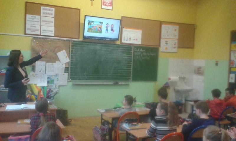 Zajęcia z savoir-vivre w klasie 3c